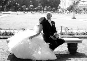 Hochzeitsfotografie in SchwarzWeiß in der Orangerie am Schloss Charlottenburg in Berlin