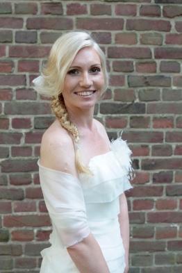 Ein strahlendes Lächeln der Braut
