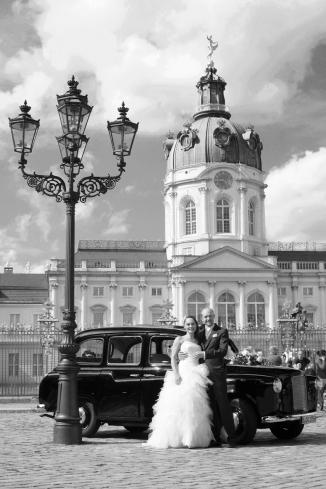 Hochzeitsshooting für dem Schloss Charlottenburg in Berlin