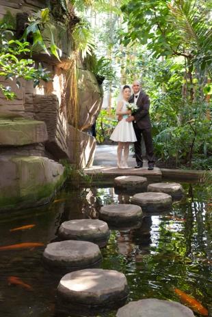 Hochzeit im Botanischen Garten in Berlin
