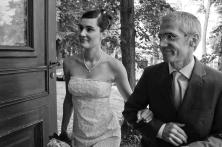 Braut und Brautvater in Berlin-Lübars im Labsaal