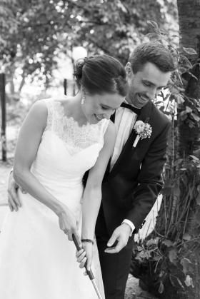 Hochzeit auf dem Minigolfplatz
