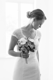 Braut kurz vor der Trauung