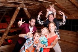 Familienfotos beim Photo Booth