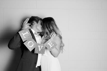 Liebesbekundungen mit dem Photo Booth
