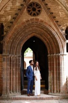 Braut und Bräutigam im Kloster Chorin